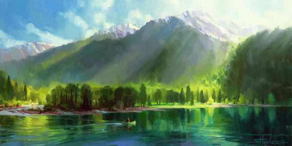 Lake Shore Wall Art - Painting - Peace by Steve Henderson