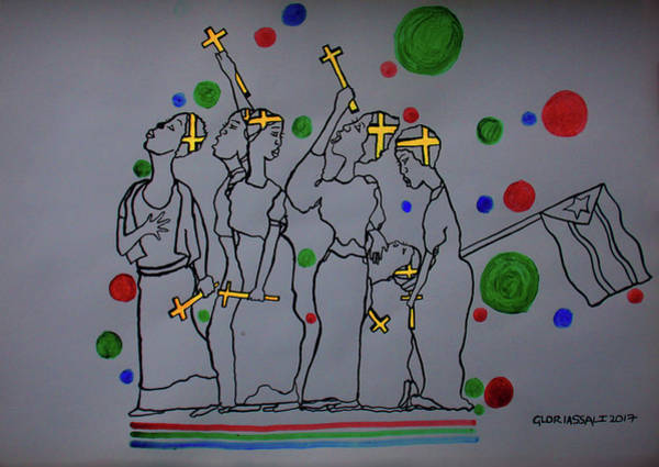 Painting - Peace The Inner Message Poster South Sudan by Gloria Ssali