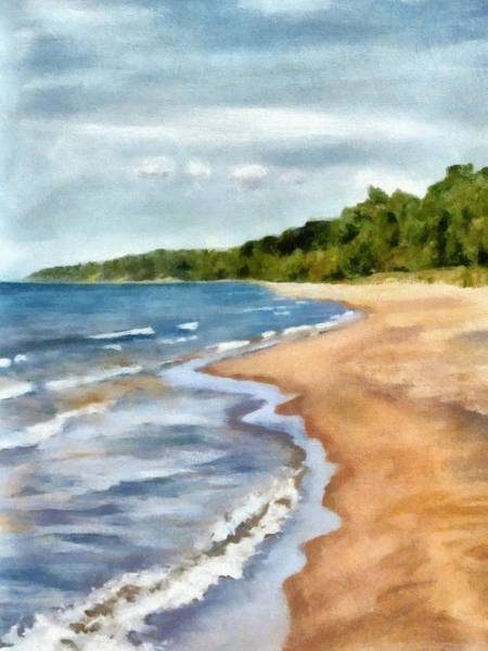 Painting - Peaceful Beach At Pier Cove Ll by Michelle Calkins