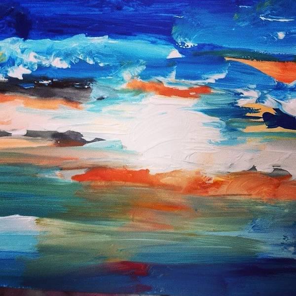 Wall Art - Painting - Peaceful Blue Skies by Love Art Wonders By God