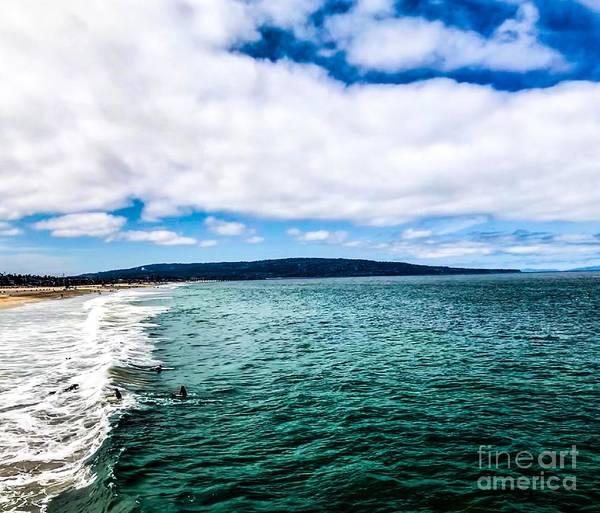 Photograph - Peaceful Blue Skies -manhattan Beach by Sheila Wenzel