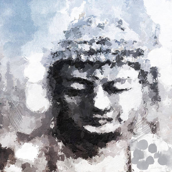 Zen Painting - Peaceful Buddha- Art By Linda Woods by Linda Woods