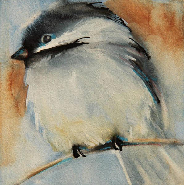 Painting - Peaceful Chickadee by Jani Freimann