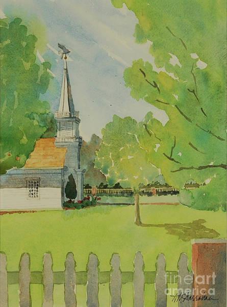 Wall Art - Painting - Peaceful Churchyard by Annette McGarrahan