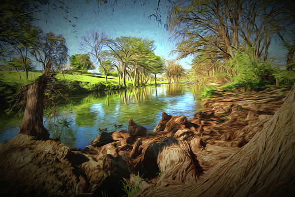 New Braunfels Photograph - Peaceful Day Painting by Judy Vincent