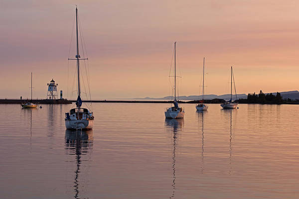Photograph - Peaceful Eve At Grand Marais, Mn Harbor by David Lunde