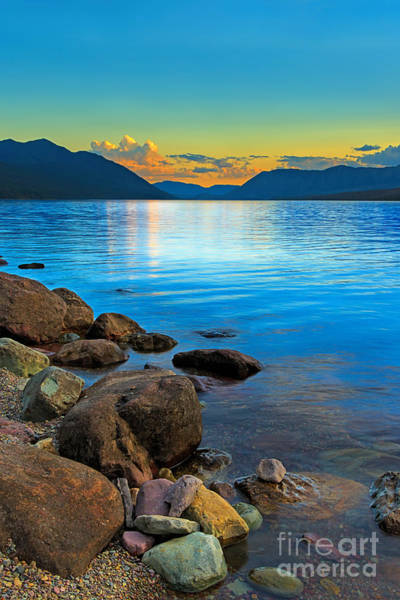 Photograph - Peaceful Evening - Lake Mcdonald by Beve Brown-Clark Photography