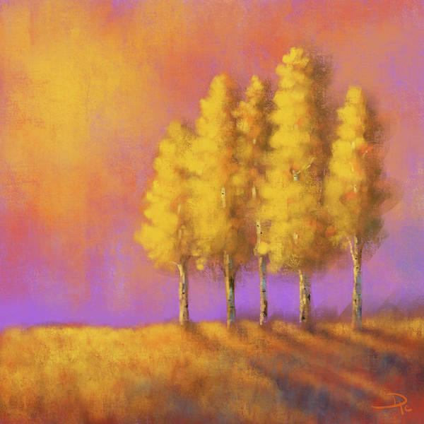 Wall Art - Digital Art - Peaceful Glow by David G Paul