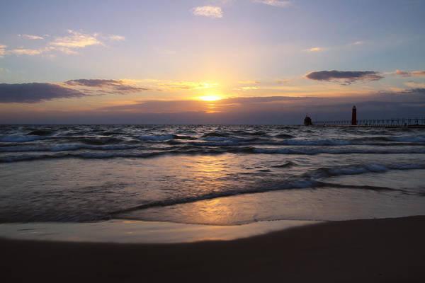 Photograph - Peaceful Grand Haven Sunset by Rachel Cohen