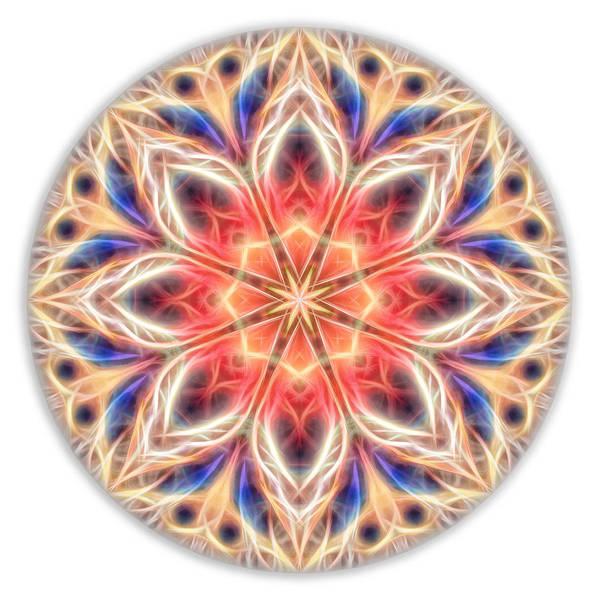Digital Art - Peaceful Heart Mandala by Beth Sawickie