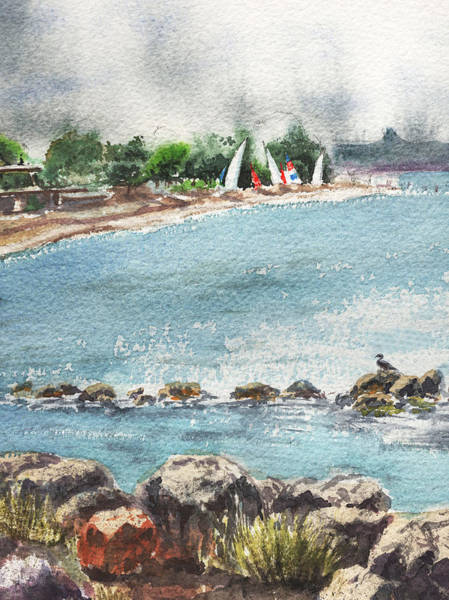 Painting - Peaceful Morning At The Harbor  by Irina Sztukowski