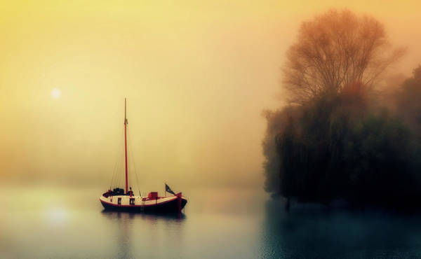 Houseboat Photograph - Peaceful Morning by Unsplash
