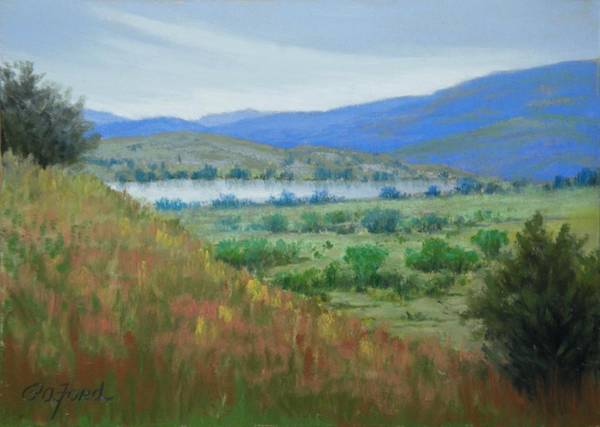 Wall Art - Painting - Peaceful Pastures by Paula Ann Ford