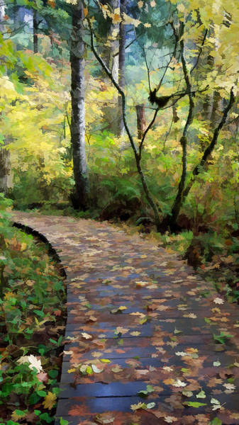 Wall Art - Painting - Peaceful Path by Bonnie Bruno