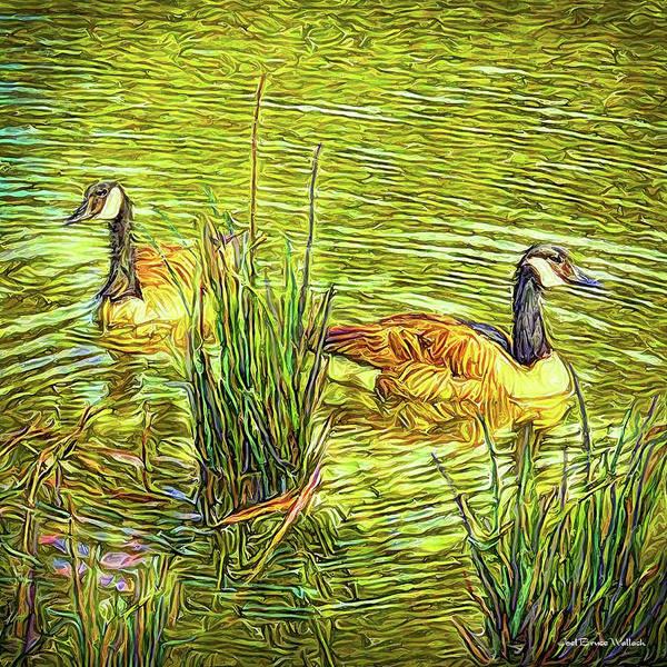 Digital Art - Peaceful Pond by Joel Bruce Wallach