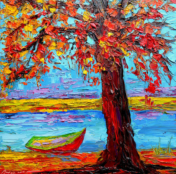 Painting - Peaceful Retreat - Modern Impressionist Knife Palette Oil Painting by Patricia Awapara