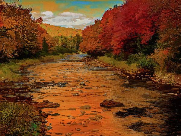 Digital Art - Peaceful River,fall Colors. by Rusty R Smith