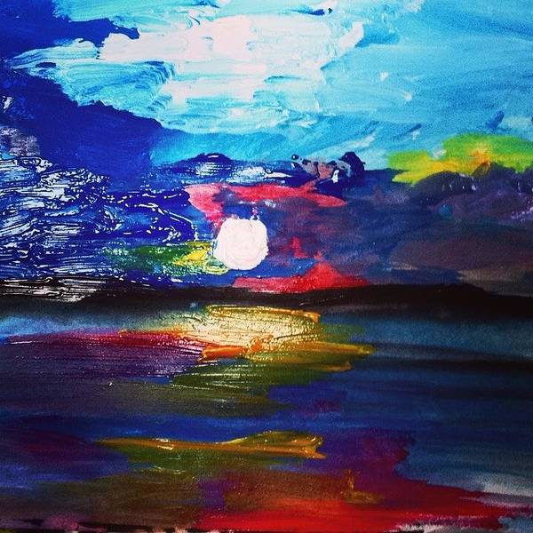 Love Painting - Peaceful Shore Wonder Sunset by Love Art Wonders By God
