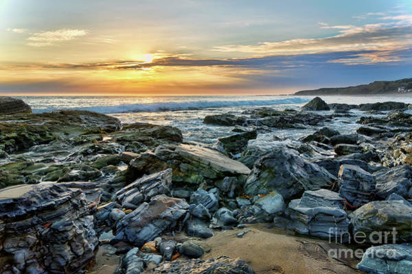 Photograph - Peaceful Sunset At Crystal Cove by Eddie Yerkish