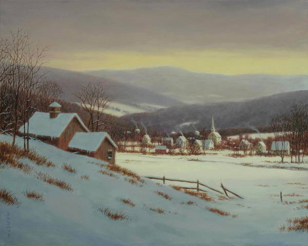 Wall Art - Painting - Peaceful Valley by Barry DeBaun