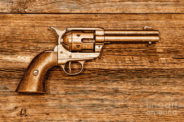 Six Wall Art - Photograph - Peacemaker - Sepia by Olivier Le Queinec