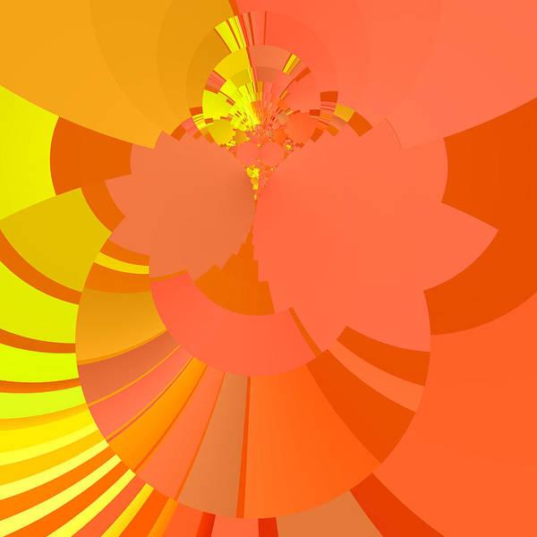 Digital Art - Peach Apricot Mango Lemon Abstract by Judi Suni Hall