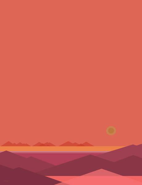 Digital Art - Peach Dawn - Vertical by Val Arie