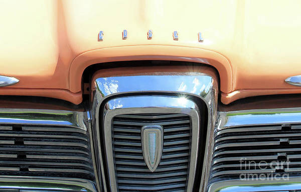 Photograph - Peach Edsel by Jennifer Robin