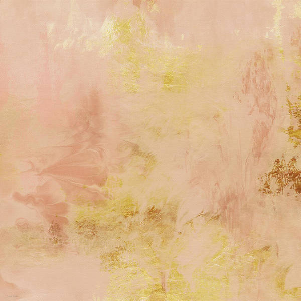Gold Painting - Peach Harvest- Abstract Art By Linda Woods. by Linda Woods