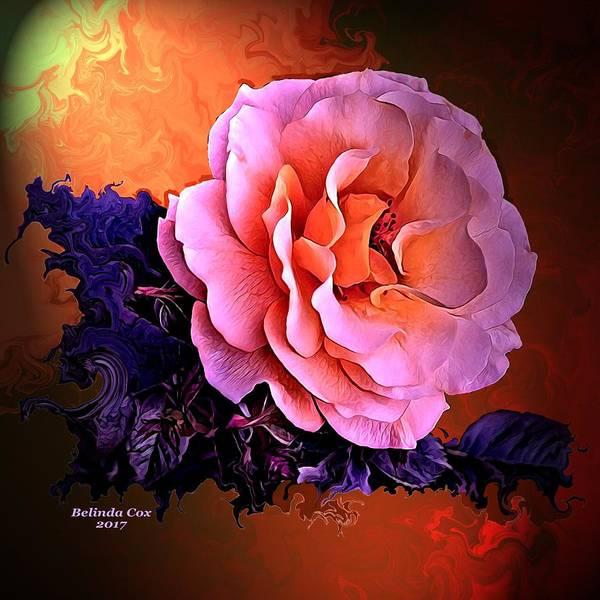 Digital Art - Peach Rose by Artful Oasis