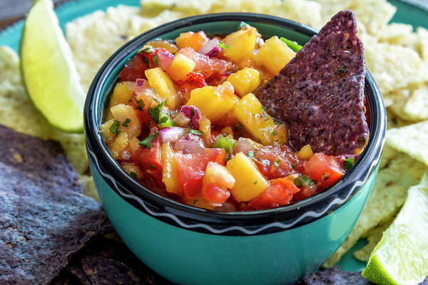 Photograph - Peach Salsa And Chips by Teri Virbickis