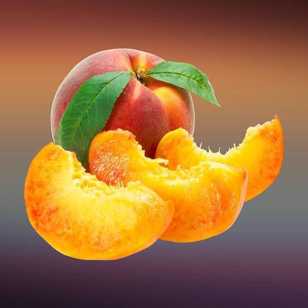 Digital Art - Peach Sliced  by Movie Poster Prints