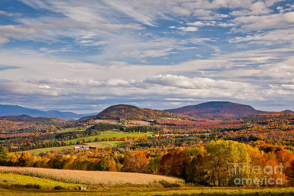 Wall Art - Photograph - Peacham Autumn Sky by Susan Cole Kelly