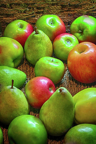Photograph - Peaches And Apples by Carlos Diaz