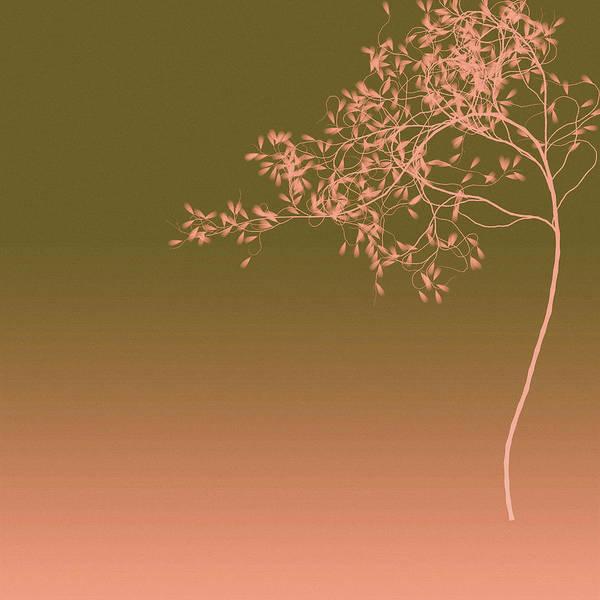 Olive Branch Digital Art - Peach Tree by Susan Maxwell Schmidt