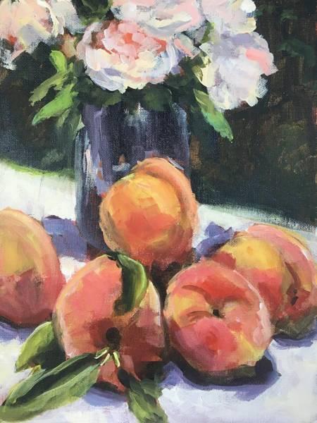 Wall Art - Painting - Peachy by Susan Elizabeth Jones