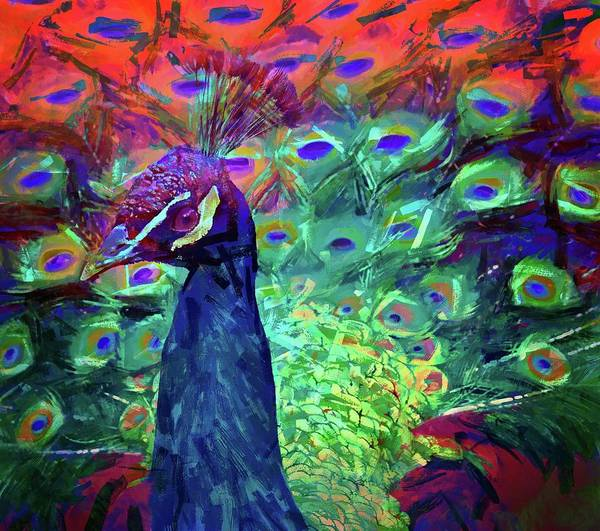 Photograph - Peacock Abstract by Alice Gipson