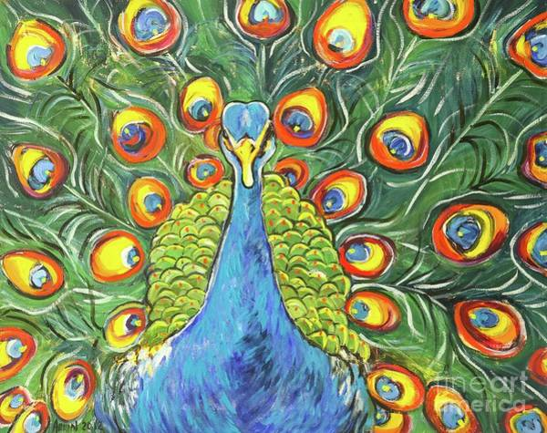 Wall Art - Painting - Peacock by Arrin Burgand