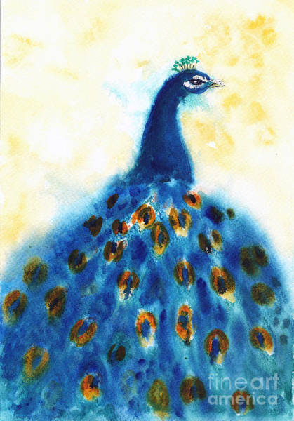 Painting - Peacock by Asha Sudhaker Shenoy