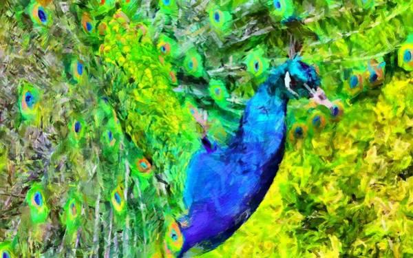 Digital Art - Peacock by Caito Junqueira