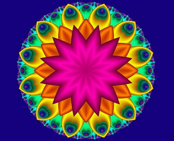 Digital Art - Peacock Fractal Flower I by Ruth Moratz
