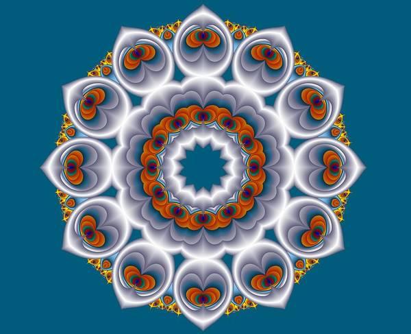 Digital Art - Peacock Fractal Snow Flower by Ruth Moratz