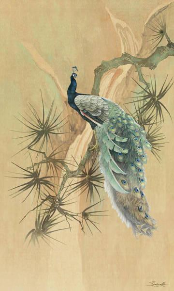 Digital Art - Peacock In The Pines by M Spadecaller