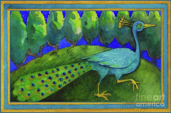 Painting - Peacock  by Lora Serra