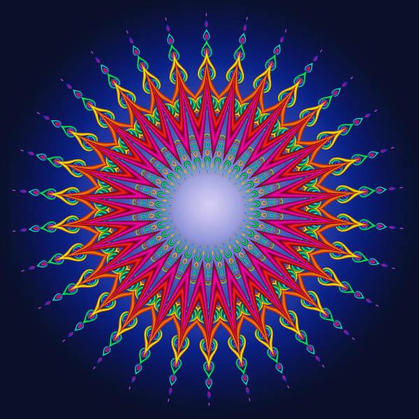 Digital Art - Peacock Moon Mandala Fractal by Ruth Moratz