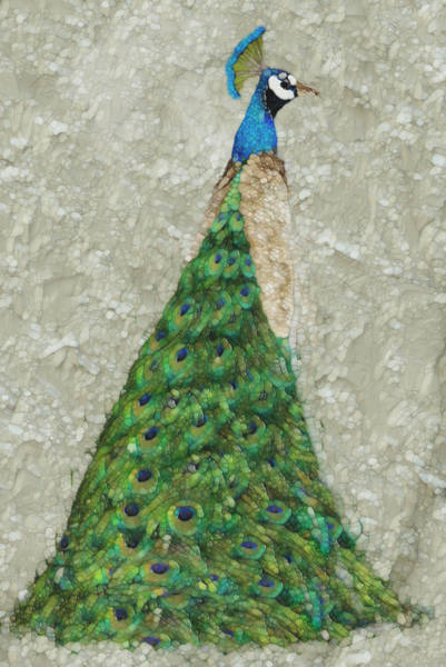 Peafowl Painting - Peacock Pose by Jack Zulli