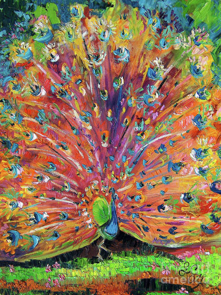 Painting - Peacock Splendor Birds Of Color by Ginette Callaway