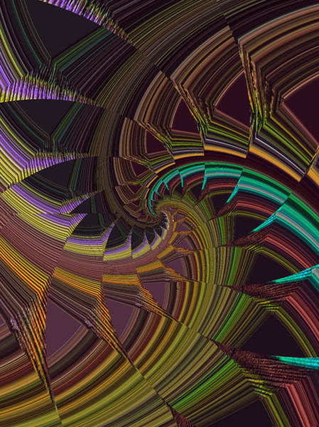Frax Photograph - Peacock Tail Abstract by Doris Aguirre