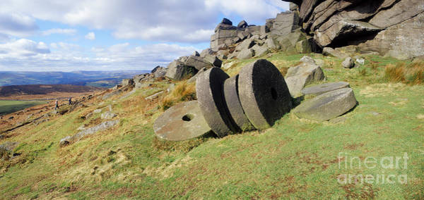 Photograph - Peak District Millstones by Warren Photographic