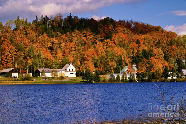 Photograph - Peak Foliage At Joe's Pond by Scenic Vermont Photography